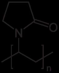 ポリビニルピロリドンの化学構造