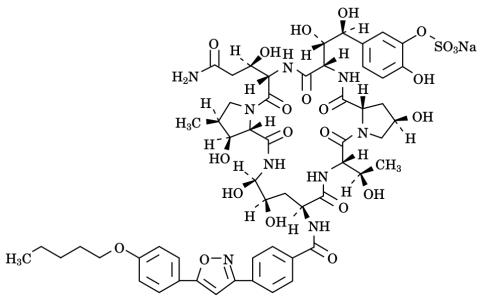ミカファンギンの化学構造