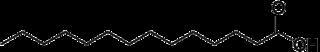 ミリスチン酸の化学構造