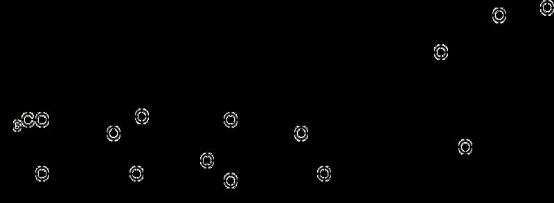 メチルジゴキシン(メディゴキシン)の化学構造