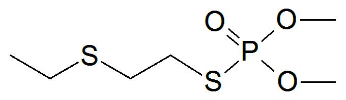 メチルジメトンの化学構造
