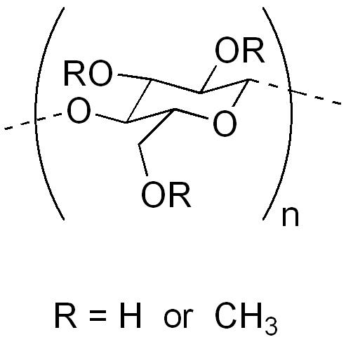 メチルセルロースの化学構造