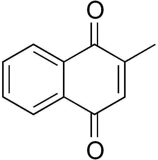 メナジオンの化学構造