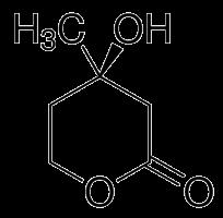 メバロノラクトンの化学構造