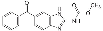 メベンダゾールの化学構造