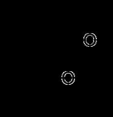メンチルアセテート(酢酸メンチル)の化学構造