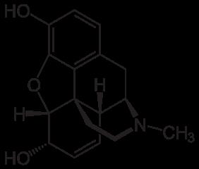 モルヒネの化学構造