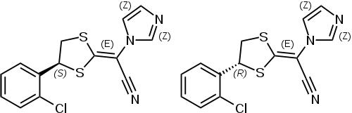 ラノコナゾールの化学構造