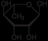 L-ラムノースの化学構造