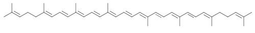 リコピンの化学構造