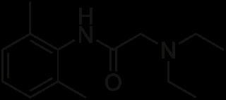 リドカインの化学構造