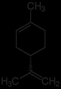 リモネンの化学構造