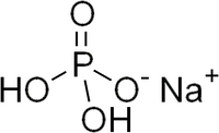リン酸二水素ナトリウム(リン酸一ナトリウム)の化学構造