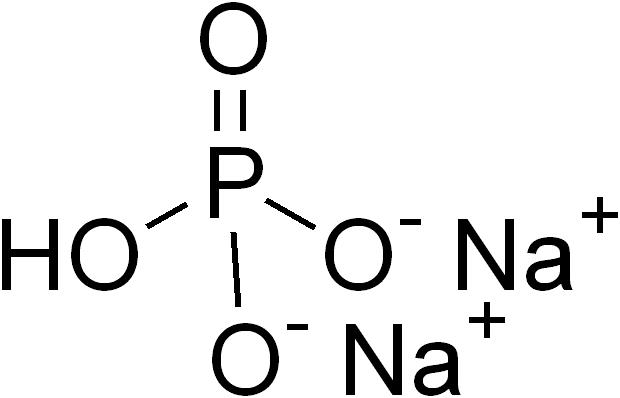 リン酸水素二ナトリウムの化学構造