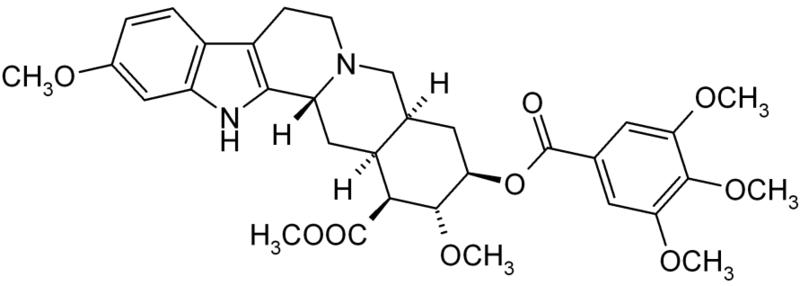 レセルピンの化学構造