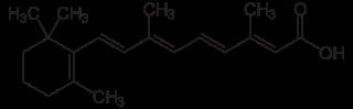 レチノイン酸の化学構造