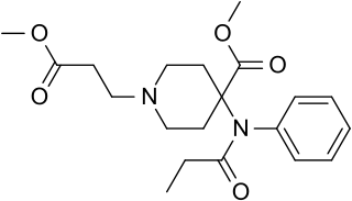 レミフェンタニルの化学構造