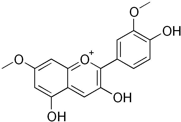 ロシニジンの化学構造