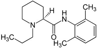 ロピバカインの化学構造