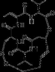 ロミデプシンの化学構造