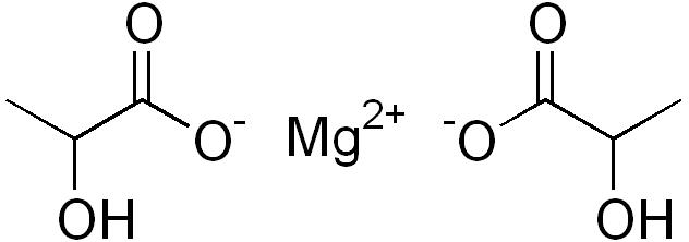 乳酸マグネシウムの化学構造