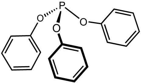 亜リン酸トリフェニルの化学構造