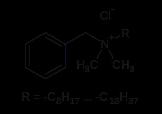 塩化ベンザルコニウムの化学構造