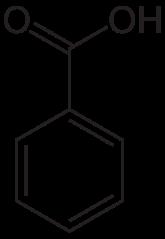 安息香酸の化学構造