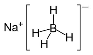 水素化ホウ素ナトリウムの化学構造