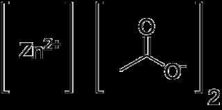 酢酸亜鉛の化学構造