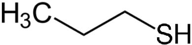 1-プロパンチオールの化学構造
