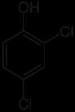 2,4-ジクロロフェノールの化学構造