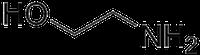 2-アミノエタノールの化学構造