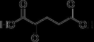 2-オキソグルタル酸(α-ケトグルタル酸)の化学構造