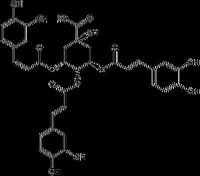 3,4,5-トリカフェオイルキナ酸の化学構造