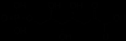 3-デオキシ-D-アラビノ-ヘプツロソン酸-7-リン酸の化学構造