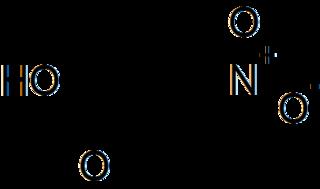 3-ニトロプロピオン酸の化学構造