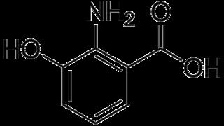 3-ヒドロキシアントラニル酸の化学構造