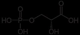 3-ホスホグリセリン酸の化学構造