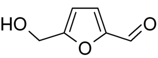 5-ヒドロキシメチルフルフラールの化学構造
