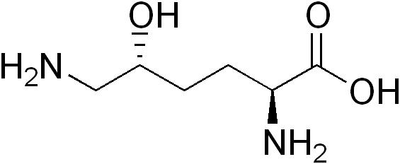 5-ヒドロキシリシンの化学構造