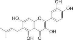 6-プレニルケルセチンの化学構造