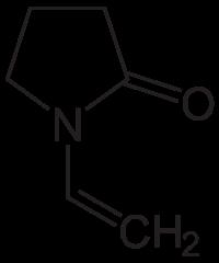 N-ビニル-2-ピロリドンの化学構造