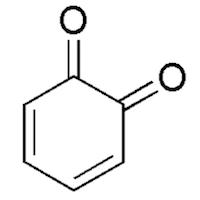 o-ベンゾキノンの化学構造