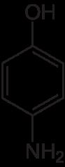 p-アミノフェノールの化学構造