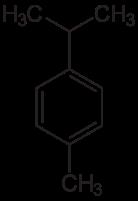 p-シメンの化学構造